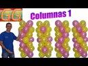 Como hacer columnas de globos sin base - decoracion de fiestas infantiles - columnas de globos