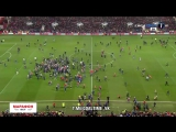 Фанаты Бристоль Сити выбежали на поле после победы над МЮ