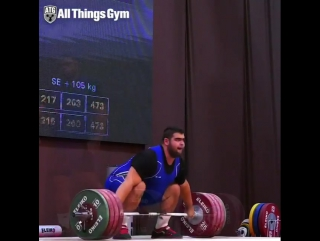Gor Minasyan (Armenia 🇦🇲) snatching 200kg