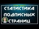 Статистика подписных страниц Евгений Гришечкин