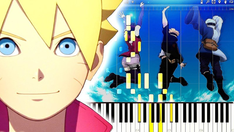 Boruto OP 2 - OVER | Piano Tutorial, ボルト【ピアノ】