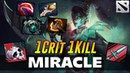 Miracle Phantom Assassin 1 CRIT 1 KILL Dota 2