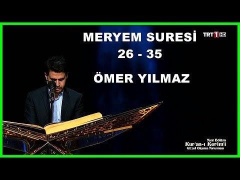 Kur'an ı Kerim'i Güzel Okuma Yarışması Hafta Finali Ömer Yılmaz