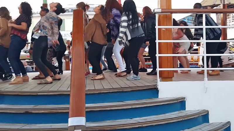 Dancing the Wobble, Cupid Shuffle, and Cha Cha Slide on Carnival Cruise