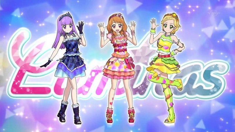 Aikatsu! Episode 156 - Luminas - Sumire, Akari, Hinaki - Lovely Party Collection