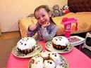 Пасхальные Куличики Высокая Кухня от Princess Polina Плей До Play Doh