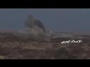 الجوف-استهداف تجمعات المنافقين في قرية الغيل وتبة القناصين بقصف صاروخي ومدفعي30-12-2017م