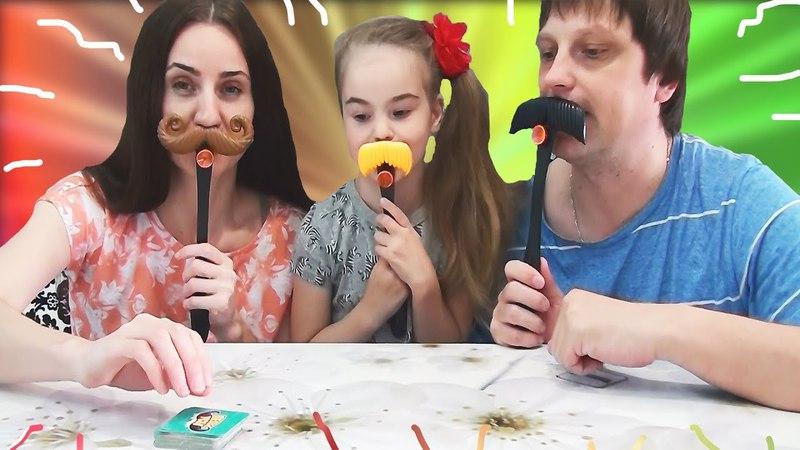Челлендж ШЛЕП УСЫ. Веселая игра для всей семьи. MOUSTACHO BAFFO MATTO CHALLENGE