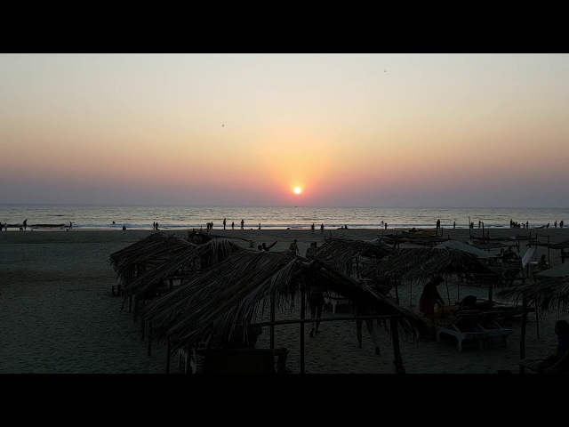 India 2018 Morjim sun set
