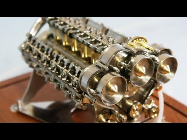 Сборка модели двигателя W18 Bugatti Veyron