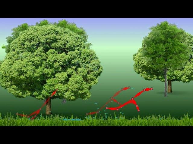 Бегающая закорючка (Кенгуренок). Генетический алгоритм и нейросети.