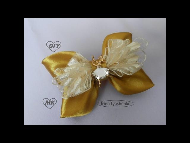 Бант из лент МК DIY Ribbon bow PAP Tutorial Laço de fita 124
