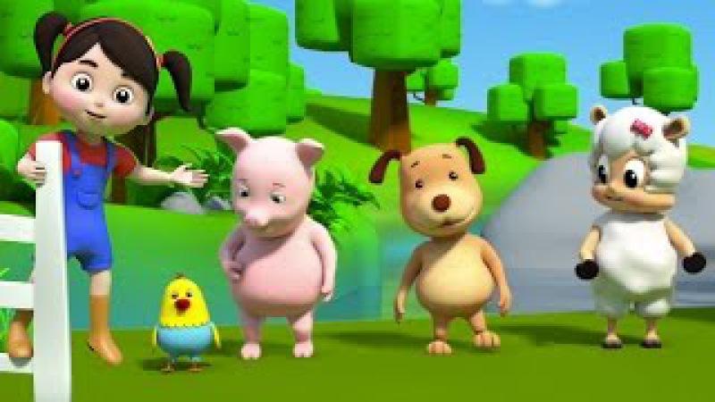 Цвета фермы | Детские рифмы и песни | Colors Of The Farm | 3D Nursery Songs | Colors For Children
