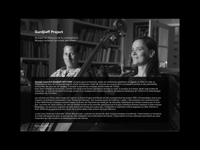 Opus Neo - Assyrian Song - Gurdjieff Project, Ivana Grahovac, cello and Olivier Maurel, piano