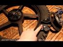 Обслуживание мотоцикла: заднее колесо. Смазка подшипников, замена демпфера.