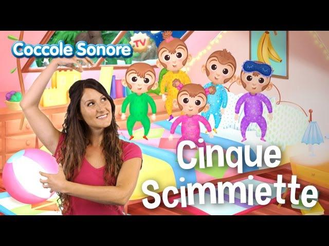 Cinque Scimmiette Balliamo con Greta Canzoni per bambini di Coccole Sonore