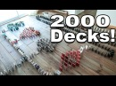 World's LONGEST Playing Card DOMINOES!! - 2000 Decks of Cards!!