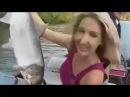 Прикол девушки на рыбалке!часть1