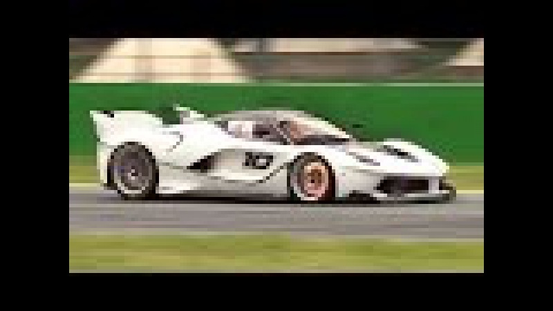 Ferrari FXX K In Action at Monza for the First Time!! - Downshifts, Flames, Glowing Brakes More!!