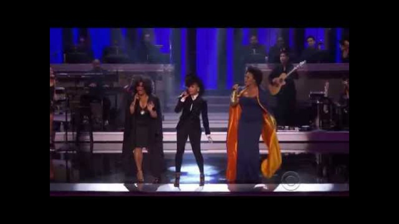 India Arie Janelle Monae and Jill Scott As Stevie Wonder Tribute