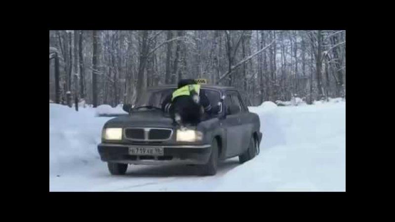 Дорожный патруль-9 (4 серия) - car chase scene