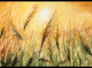 Sunset Wheat in Watercolors Painting Tutorial