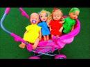 Куклы играют в прятки на Детской Площадке Полина КАК МАМА Colored Dolls playing Hide and seek