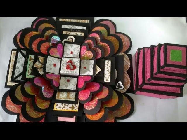 Explosion Box Tutorial / Valentine gift / anniversary gift » Freewka.com - Смотреть онлайн в хорощем качестве