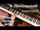 Видеоурок К.Никольский - Птицы белые мои / Евгений Алексеев