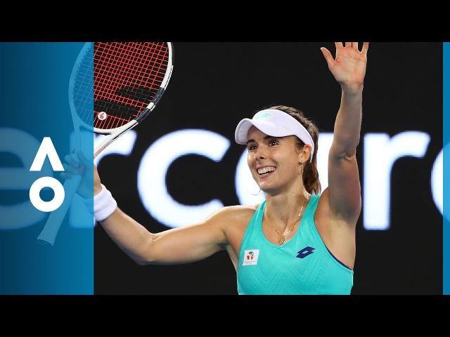 Alize Cornet v Julia Goerges match highlights 2R Australian Open 2018