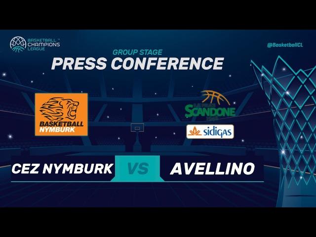 LIVE🔴 - CEZ Nymburk v Sidigas Avellino - Press Conference - Basketball Champions League