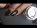 Черный маникюр и дизайн ногтей рептилия гель лаком. Очень стильный и простой ман
