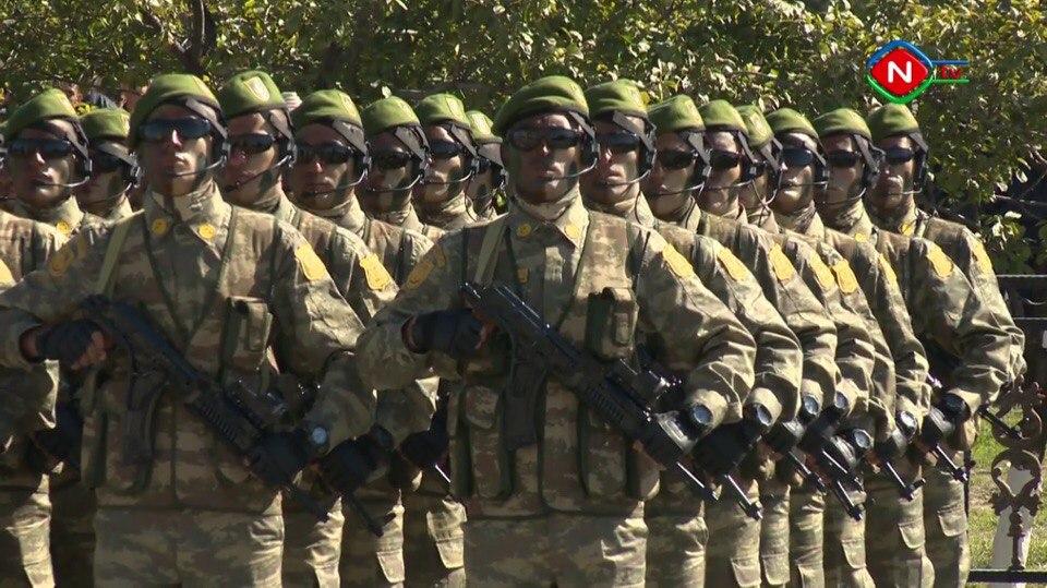Парад Национальной армии Азербайджана в Нахичеванской Автономной Республике