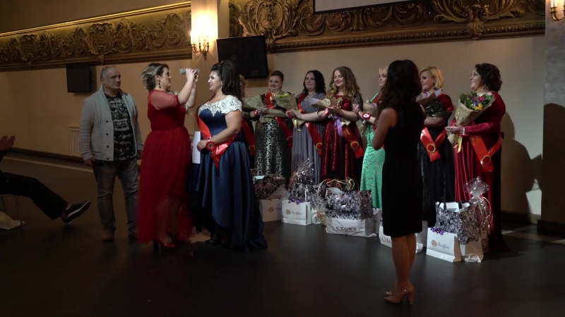 Церемония награждения конкурса красоты