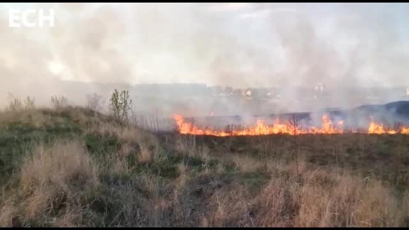 Мобильный репортер Пожар вблизи с башней Чертово городище