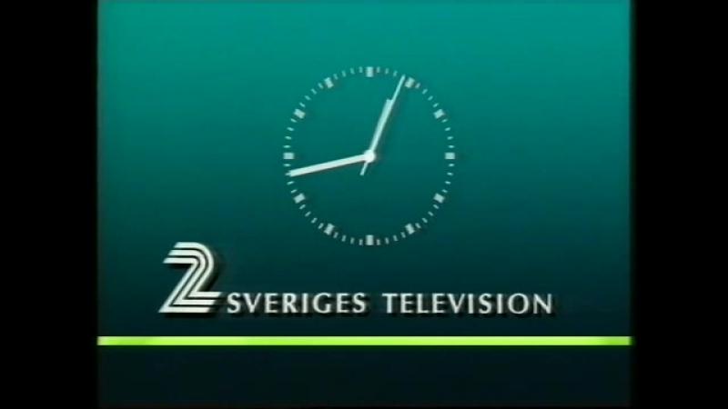Диктор, программа передач и конец эфира (TV2 [Швеция], 12.08.1989)