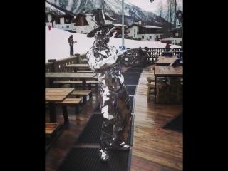 Человек-диско в горах Сочи