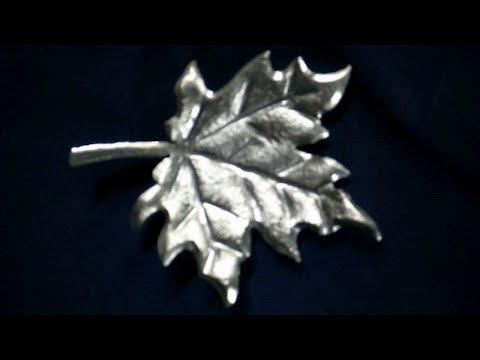 Как сделать кованый,кленовый лист своими руками,горячая ковка металла