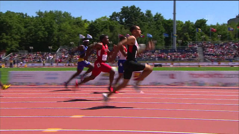 Andre de grasse (ENTIRE) - MEN's 200m HEAT 4 - Track Field IAAF - pan am games toronto