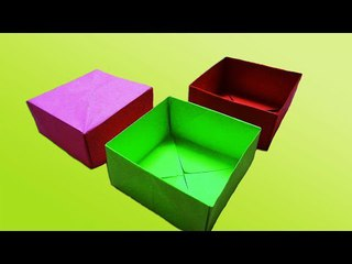 How to make a Easy paper box that opens and closes | for beginners making