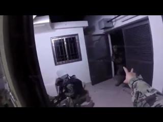 Видео штурма и захвата спецподразделением Морской пехоты Мексики наркобарона Эль Чапо.