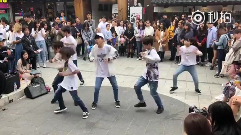 BOYSTORY Hongdae Busking MIC DROP BTS 2nd time 20180520