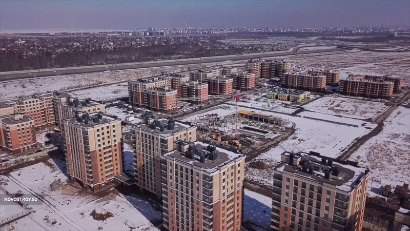 Аэросъемка ЖК «NewПитер» от 25 марта 2018 года