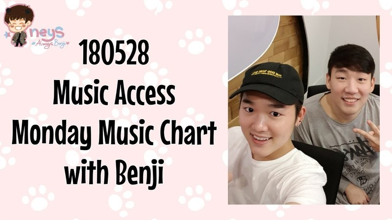 180528 Music Access Monday Music Chart with Benji (벤지) of B.I.G (비아이지)