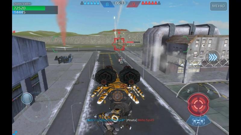 War robots (Carnage-средний робот оружие Zeus-энергетическое оружие 2)