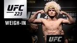 Прямая трансляция показательной церемонии взвешивания участников турнира UFC 223.