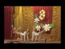 Гимнастический танец на школьной сцене
