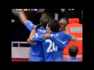 Drogba scored this brilliant free kick
