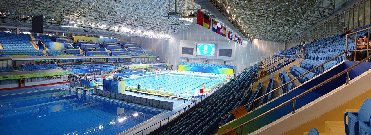 дворец плаванья и спорта в Китае (Олимпиада 2008)