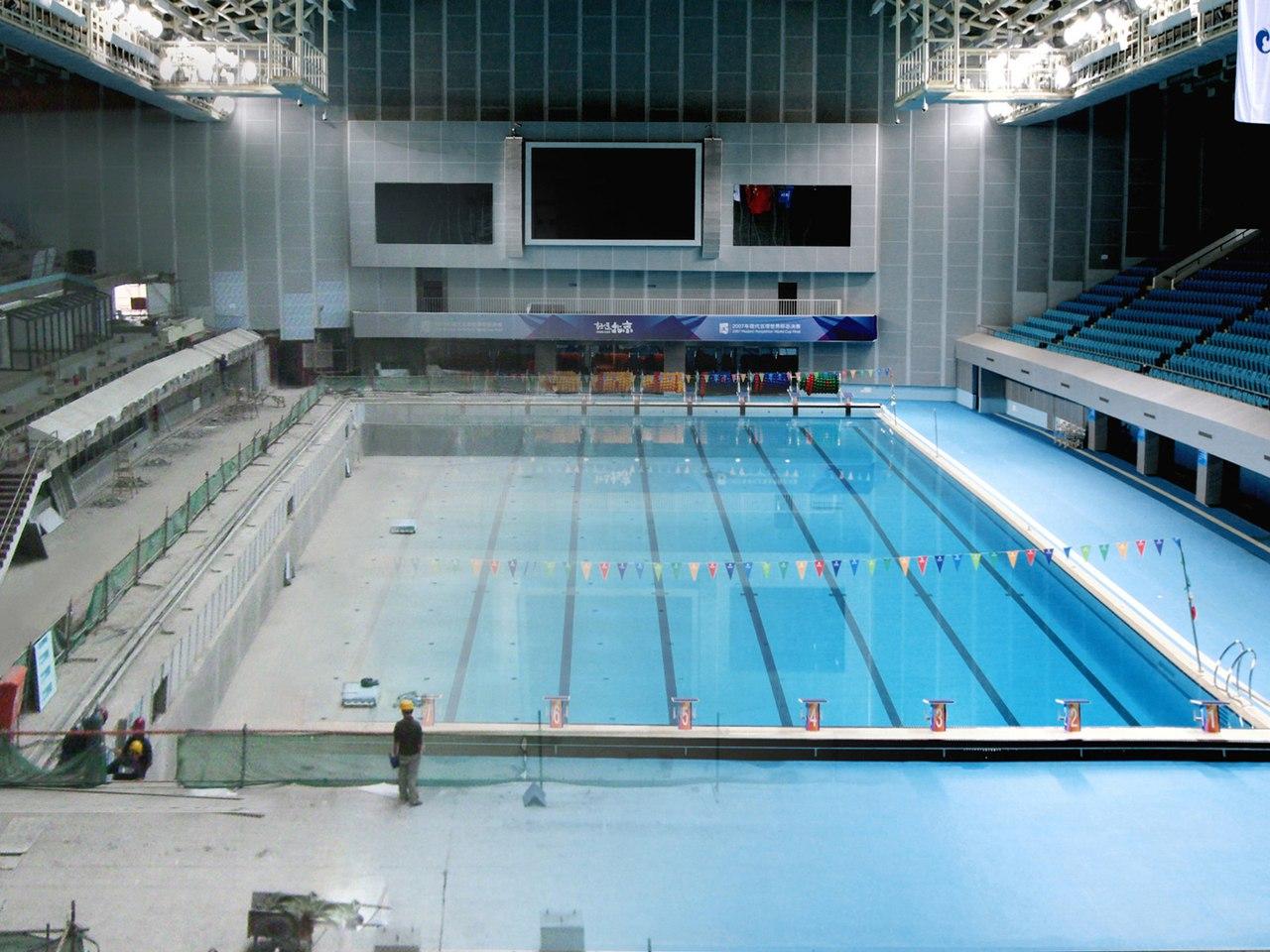 реконструкция бассейна в Китае 2008 Олимпиада